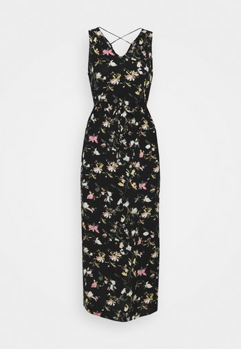 VMSIMPLY EASY TANK DRESS - Maxi dress - black/oline