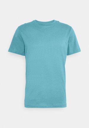 SLHNORMAN O NECK TEE  - Camiseta básica - bluejay