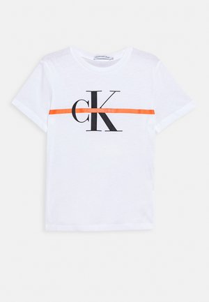 MONOGRAM STRIPE - T-shirt med print - white