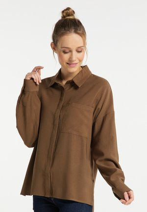 Button-down blouse - oliv
