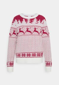 Vila - VICOMET CHRISTMAS - Jumper - snow white/red - 3