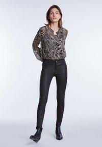 SET - Button-down blouse - black/white - 1