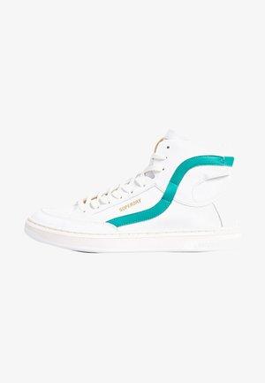 High-top trainers - white/aqua