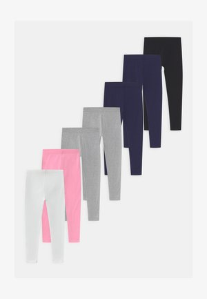 7 PACK - Leggings - Trousers - black/dark blue/grey