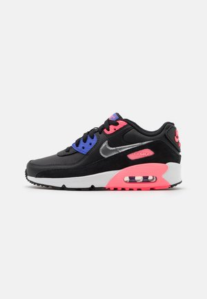 AIR MAX 90 LTR  - Zapatillas - black/metallic silver/sunset pulse
