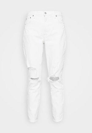 DESTROY CURVE LOVE DUPE - Slim fit jeans - white