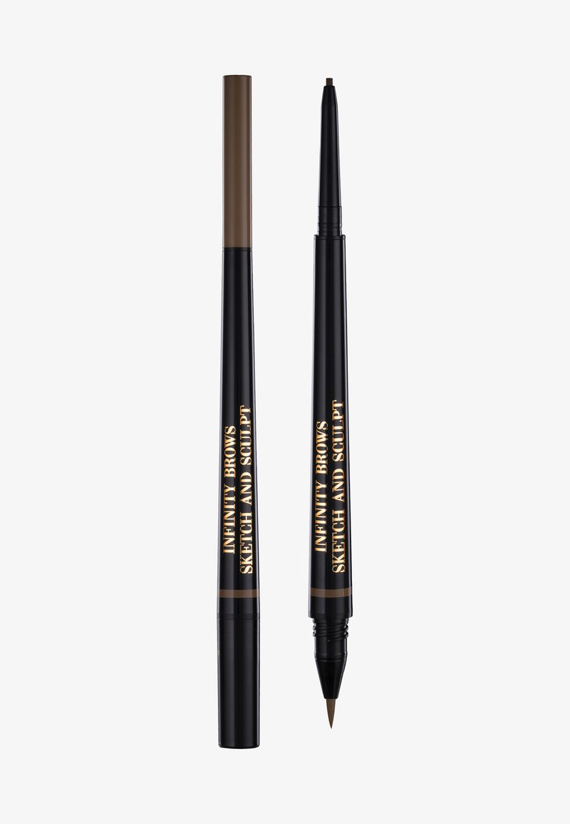 LH cosmetics - INFINITY POWER BROWS - SKETCH AND SCULPT LIQUID LINER & PENCIL - Eyebrow pencil - taupe