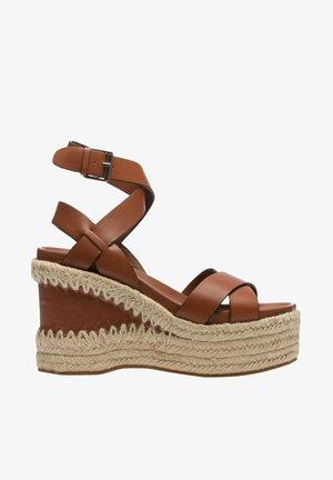 QUANTAS  COMBO - High heeled sandals - brown