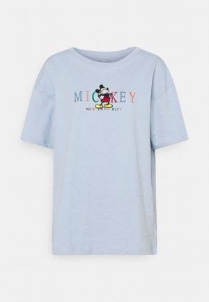 THE ORIGINAL TEE - Print T-shirt - silver blue