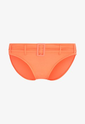 HIPSTER WITH PINTUCKED BELT - Bikini bottoms - melon
