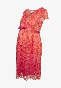 Esprit Maternity - DRESS - Cocktail dress / Party dress - coral - 3