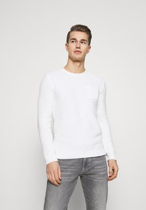 STRUCTURED CREW NECK  - Jumper - light marsmallow