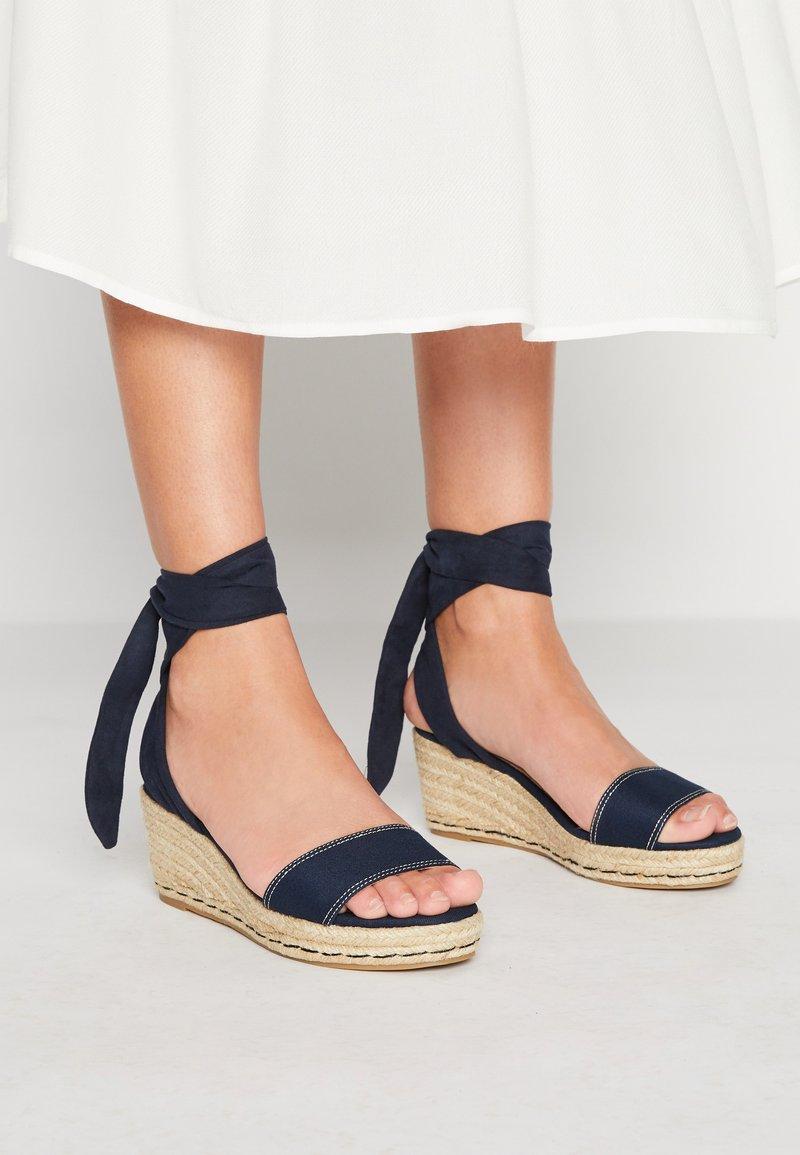 mtng - AUSTEN - Platform sandals - blue