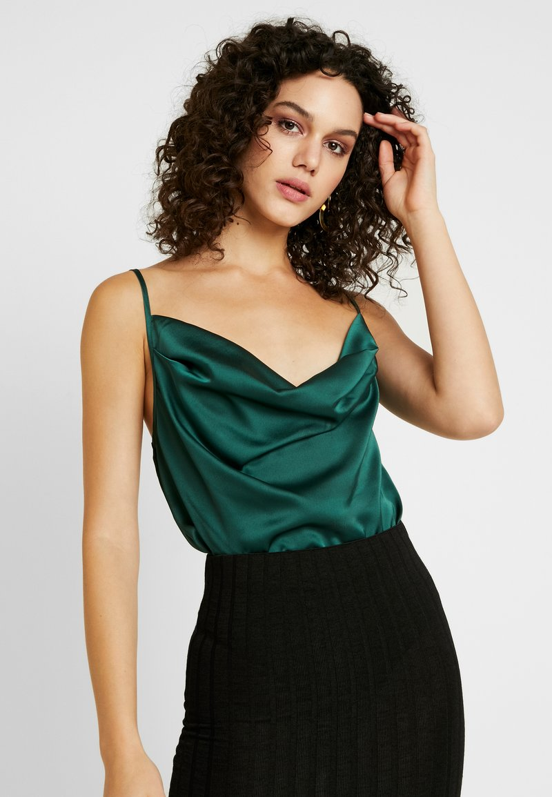 Missguided - COWL NECK BODYSUIT - Top - green