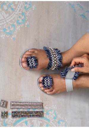 3in1 - T-bar sandals - silber