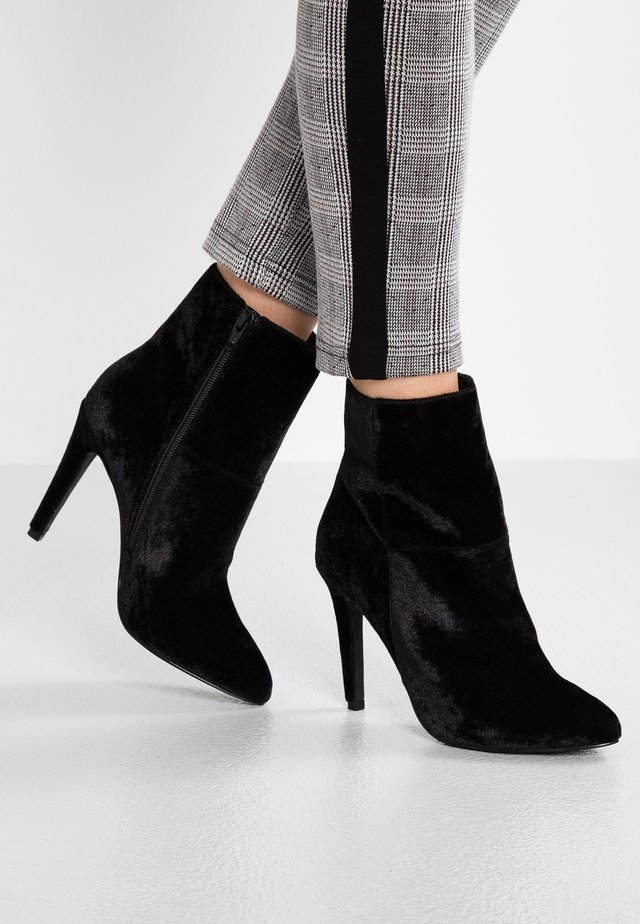 NOOS - High heeled ankle boots - black