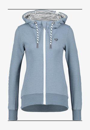 Zip-up hoodie - steelblue