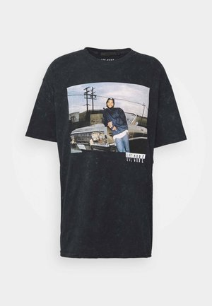 ICE CUBE OVERSIZED WASHED TEE - T-shirt imprimé - washed black