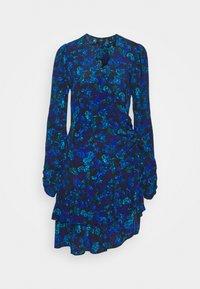 River Island - RUFFLE HEM TEA DRESS - Day dress - blue - 0