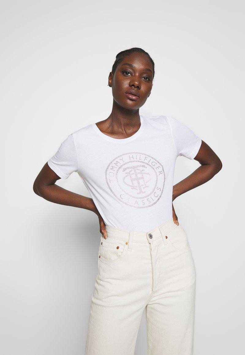 Tommy Hilfiger - TIARA - T-shirt imprimé - white