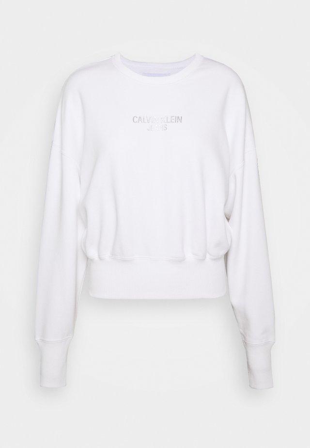 INSTITUTIONAL BACK LOGO - Bluza - bright white