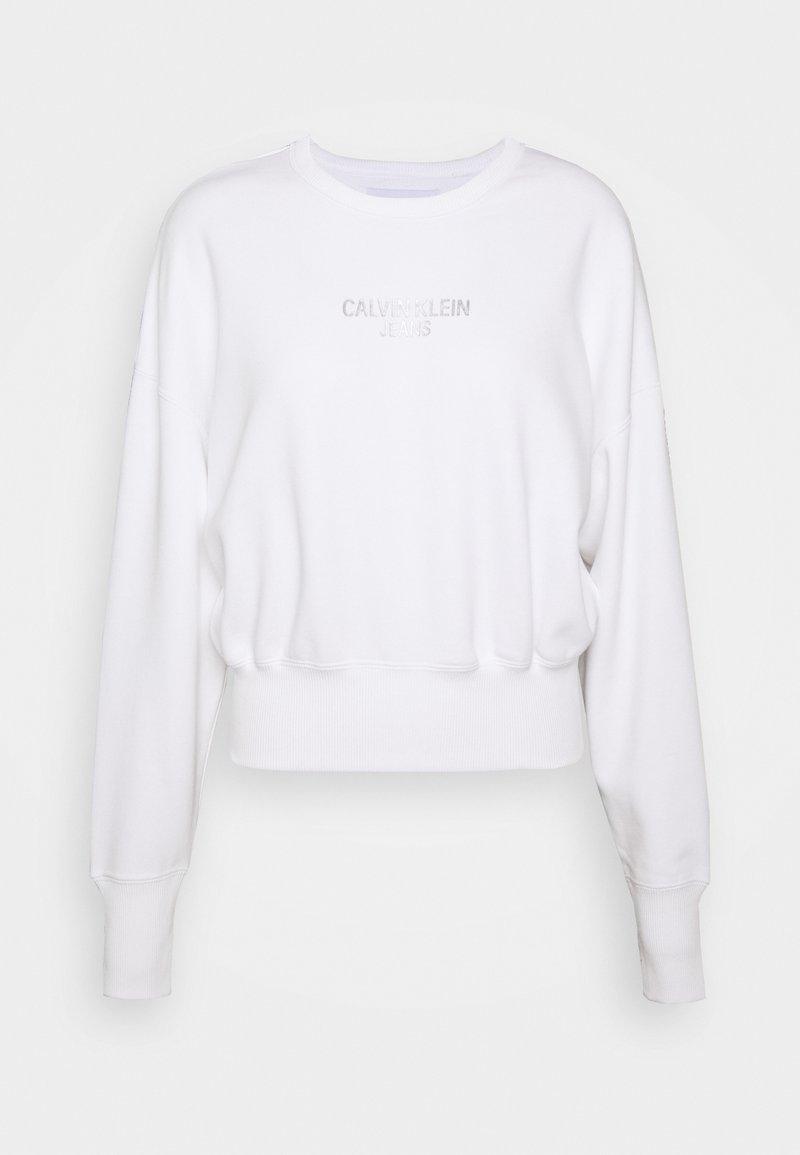 Calvin Klein Jeans - INSTITUTIONAL BACK LOGO - Sweatshirt - bright white