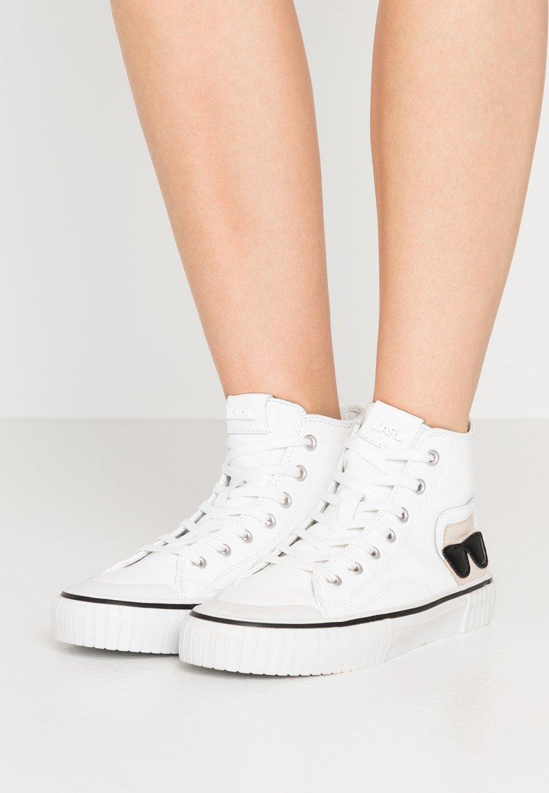 KARL LAGERFELD - KAMPUS KARL IKONIC - Sneakers high - white