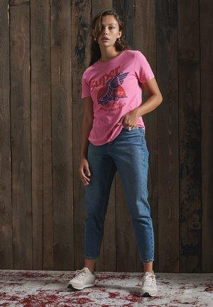 Print T-shirt - marne pink