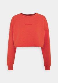 OVERSIZED CROP - Sweatshirt - rust red
