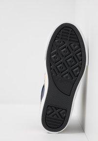Converse - PRO BLAZE STRAP VARSITY - Zapatillas altas - obsidian/amarillo/white - 4