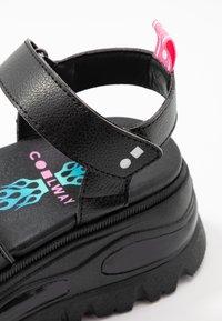 Coolway - GRAVITY - Platform sandals - black - 2