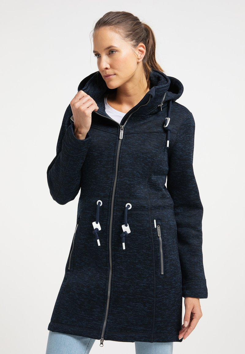 ICEBOUND - Short coat - dunkemarine melange