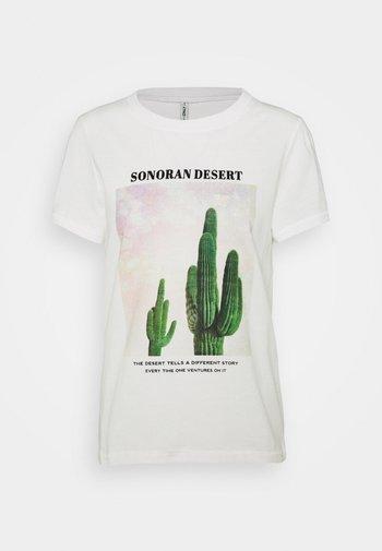 ONLLALA LIFE - T-shirt print - cloud dancer