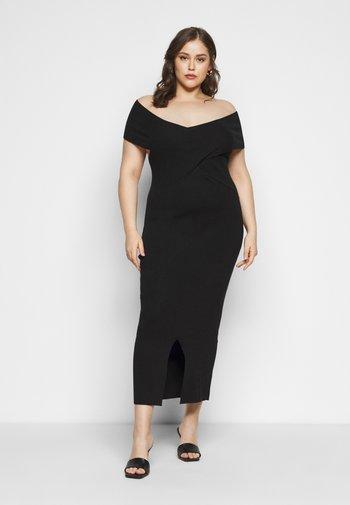 SWEETHEART BARDOT MIDI DRESS - Cocktail dress / Party dress - black