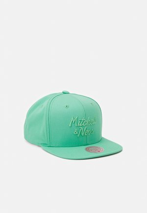 BRANDED STACKED CLASSIC SCRIPT - Cap - teal
