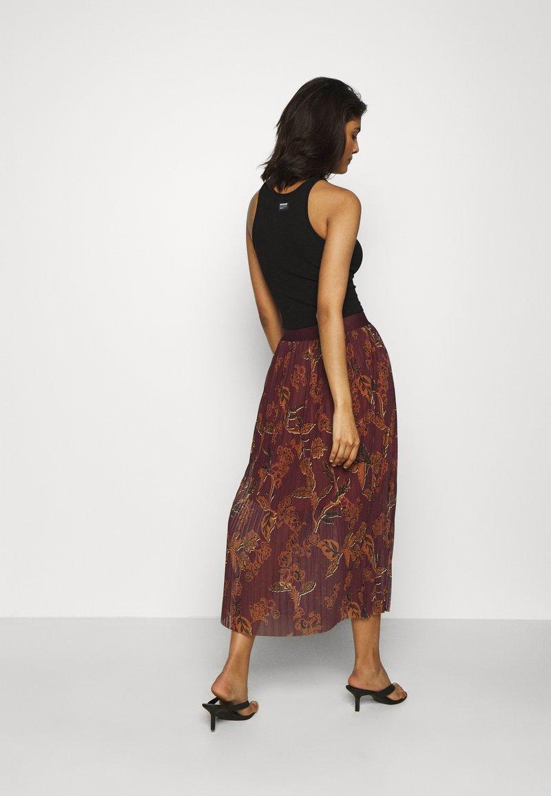 Mos Mosh - PLISSÉ SKIRT - A-line skirt - purple