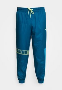 Puma - TRAIN PANT - Tracksuit bottoms - digi blue/energy blue/fizzy yellow - 4