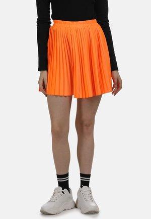 ROCK - Pleated skirt - neon orange