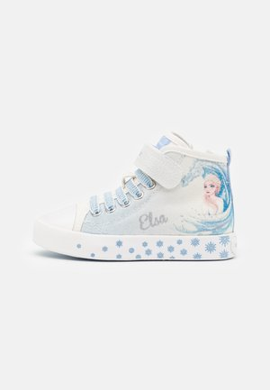 Disney Frozen Elsa GEOX JUNIOR CIAK GIRL - High-top trainers - white/sky