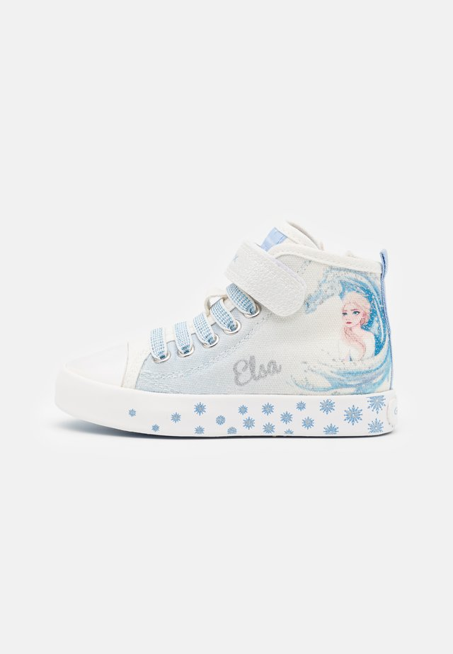 Disney Frozen Elsa GEOX JUNIOR CIAK GIRL - Sneakers alte - white/sky