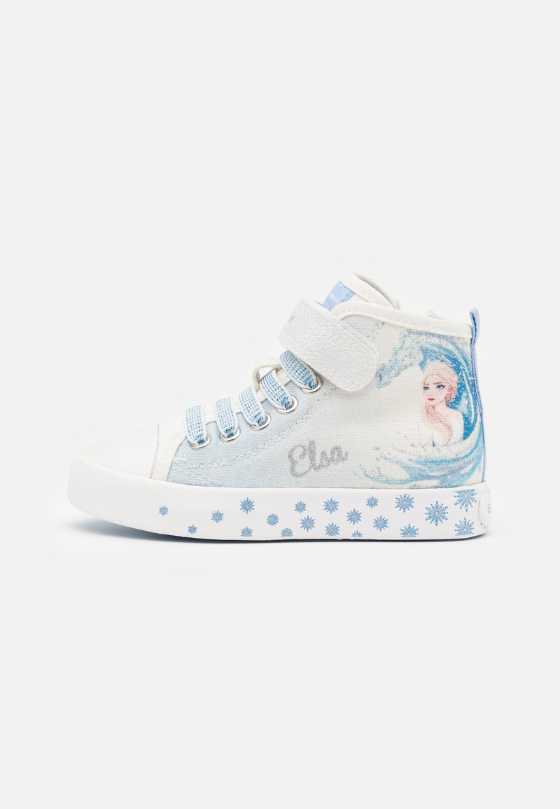 Geox - Disney Frozen Elsa GEOX JUNIOR CIAK GIRL - Zapatillas altas - white/sky