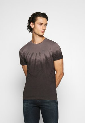 T-shirt z nadrukiem - light mud