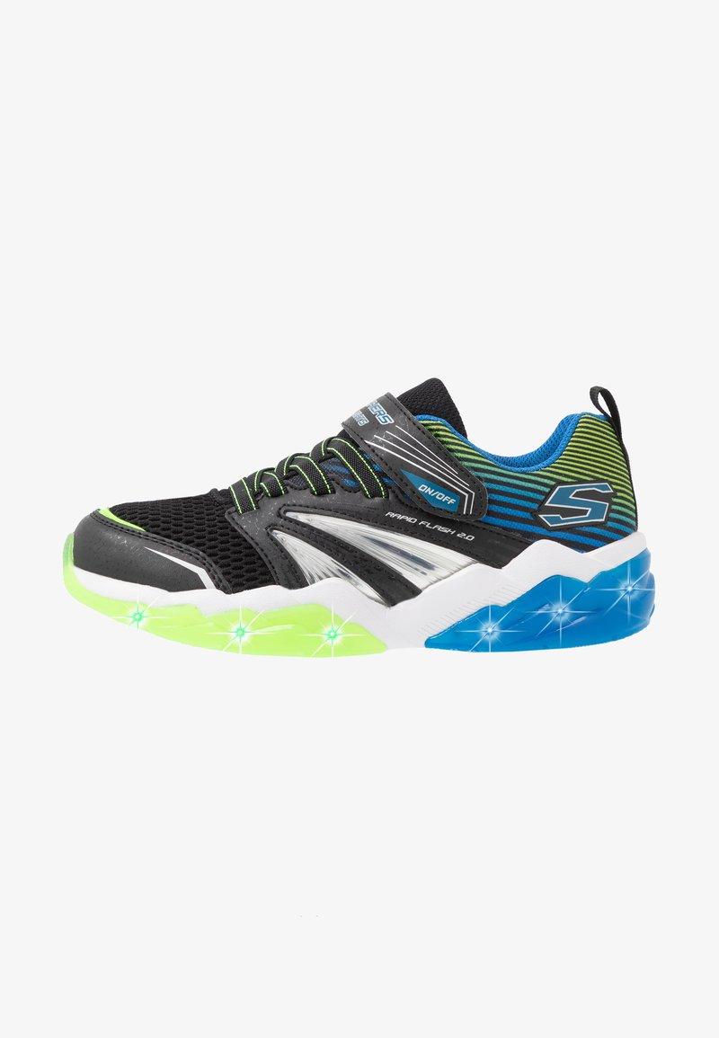 Skechers - RAPID FLASH 2.0 - Tenisky - black/blue/lime