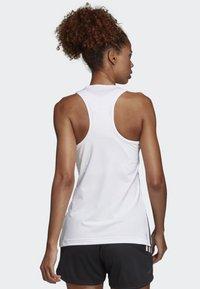 adidas Performance - TANK - Sportshirt - white/black - 1