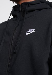 Nike Sportswear - CLUB HOODIE - Felpa aperta - black/black/white - 5
