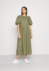 Envii - ENSAFFRON DRESS - Maxi dress - deep lichen green - 1
