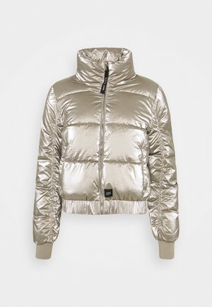 METALLIC SHORT JACKET - Winter jacket - grey