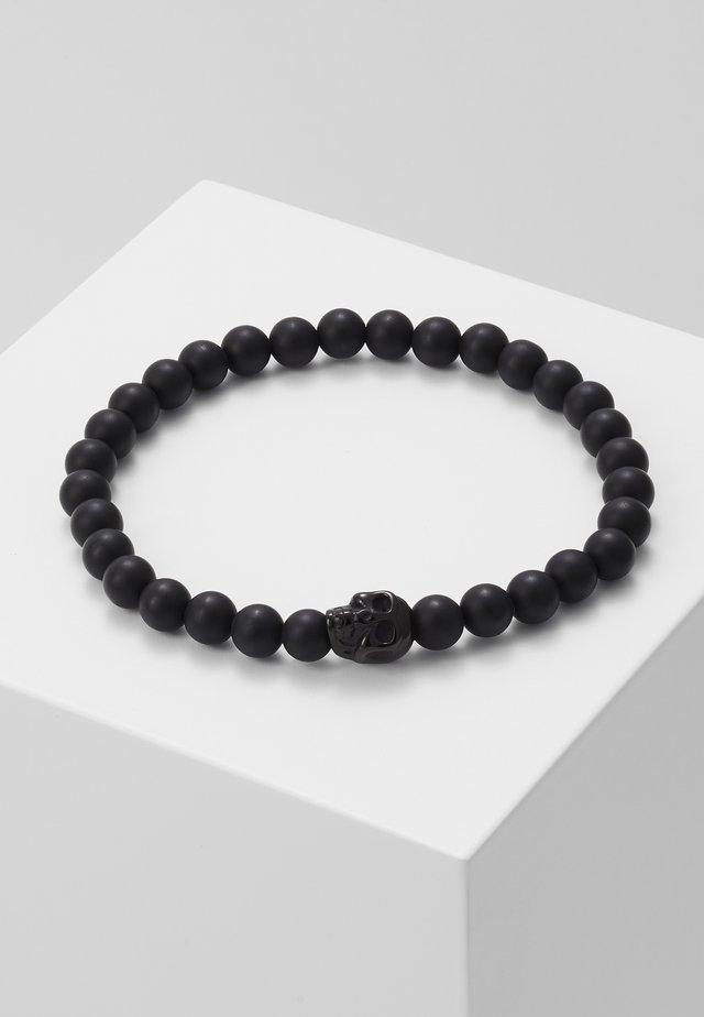 SKULL BEAD BRACELET - Bracelet - black
