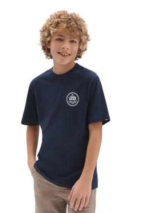 BY VANS CUSTOM CLASSIC SS BOYS - T-shirt med print - dress blues