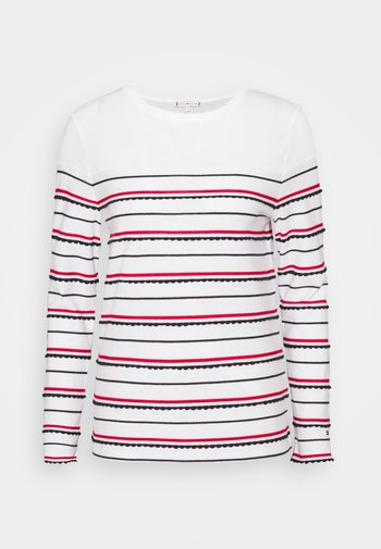 Long sleeved top - ombre stp/ primary red